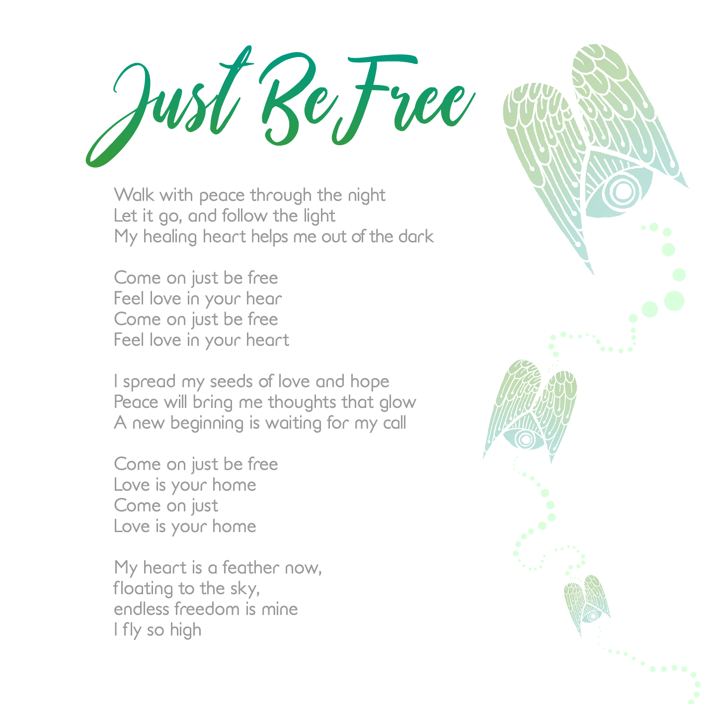 Just Be Free- Musik text
