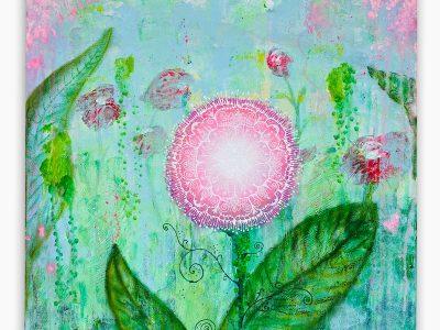 2448   Material: Acrylfarben •  Leinwand Größe 60 x 60cm   Tiefe:  3,5 cm   • Preis: 690 €