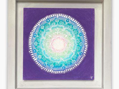 2463  Material: Pastellkreide/Silber Acryl •  Holzrahmen: Größe Außen: 57 x 57 cm   Innen :40 x 40  cm   Tiefe: 4 cm • Preis: 329€