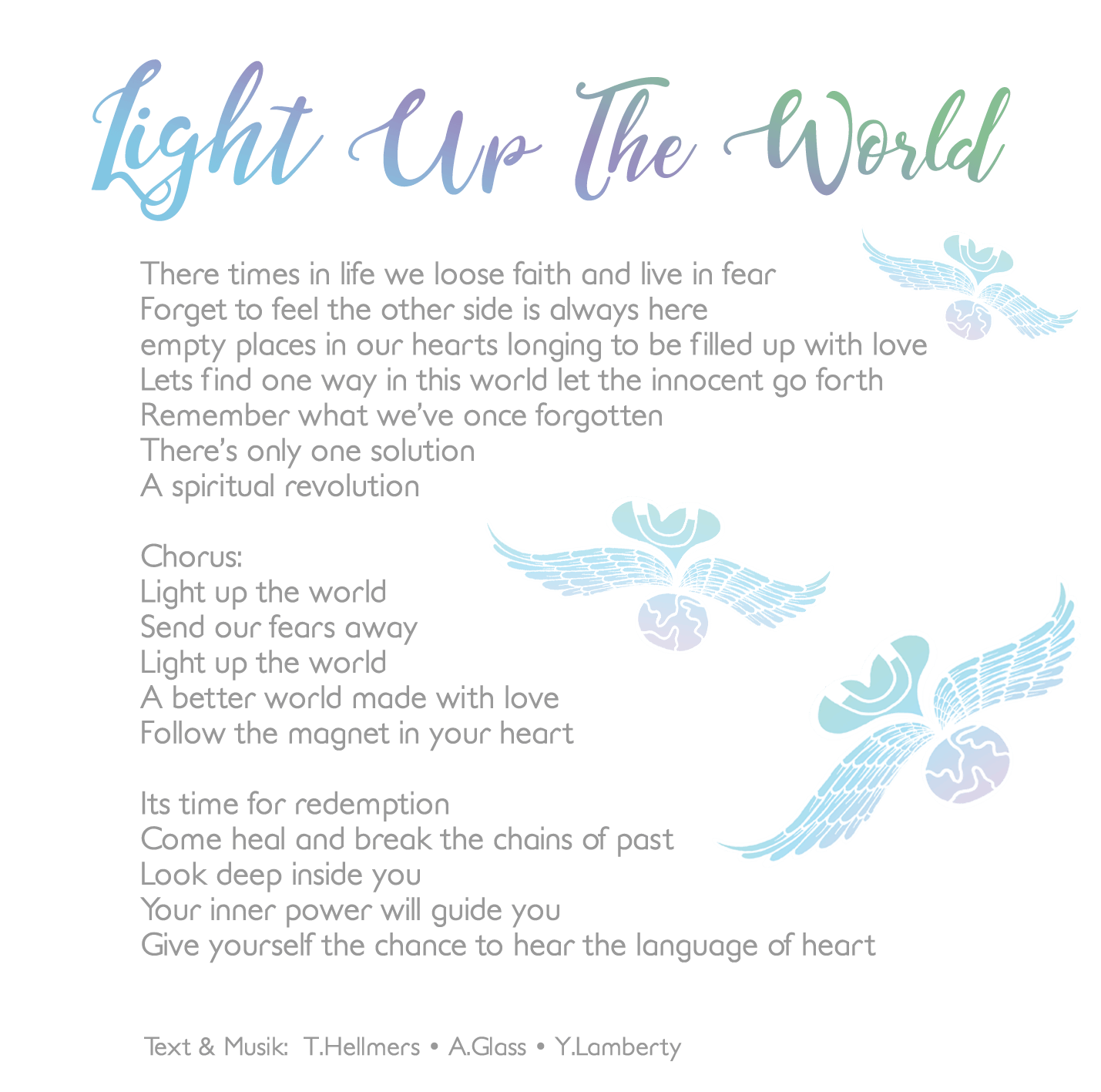 LightUpTheWorld- Musik text