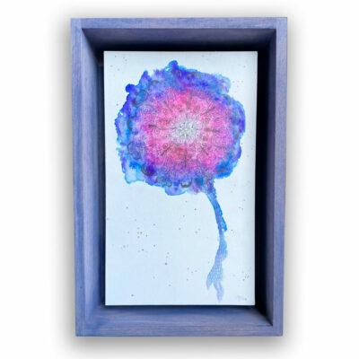 Aquarell Mandala in Holzrahmen Außenmaße: 30 Lang x 20 cm Breit x  6 cm Tief   / Innen 26x16 cm   Preis : 149 €  + Versandkosten